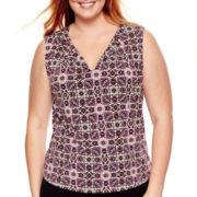 Liz Claiborne® Keyhole Tank Top - Plus Size