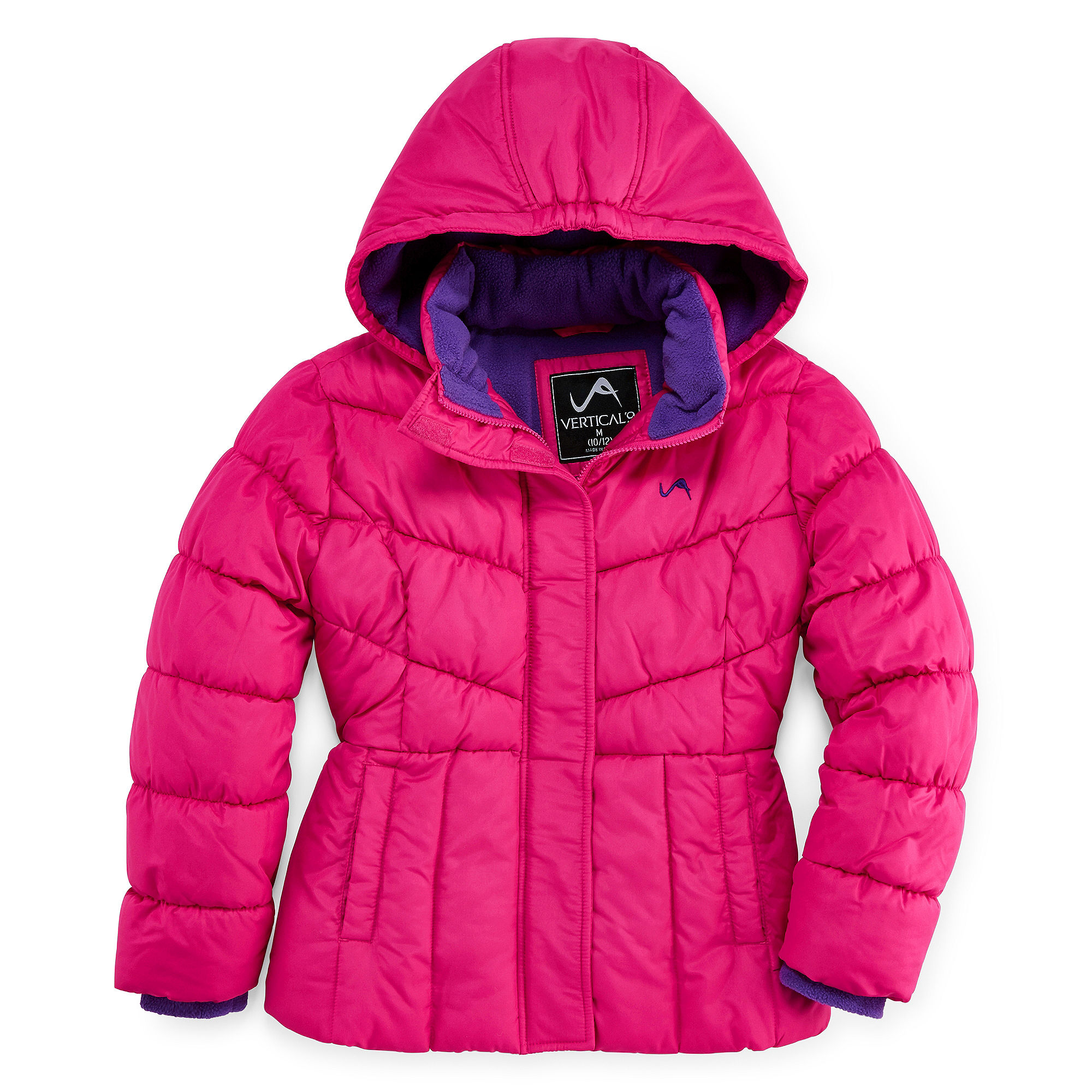 Vertical 9 Hooded Puffer Jacket - Girls 7-16 and Plus plus size,  plus size fashion plus size appare