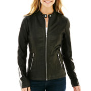 a.n.a® Classic Scuba Faux-Leather Jacket