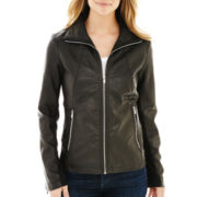 a.n.a® Wing Collar Faux-Leather Jacket