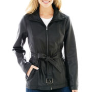 a.n.a® Wing Collar Faux-Leather Scuba Jacket
