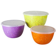 Zak Designs® Confetti 6-pc. Mixing Bowl Set with Lids