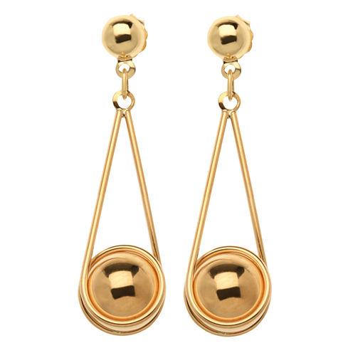 10K Yellow Gold Drop Earrings