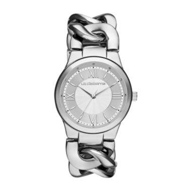 jcpenney.com | Liz Claiborne® Womens Silver-Tone Link Chain Watch