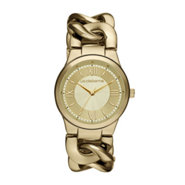 jcpenney.com | Liz Claiborne® Womens Gold-Tone Link Chain Watch