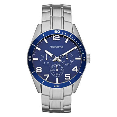 jcpenney.com | Claiborne Mens Blue & Silver-Tone Chronograph Watch
