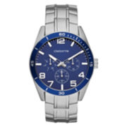 Claiborne Mens Blue & Silver-Tone Chronograph Watch