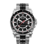 Bulova® Precisionist Mens 30ATM Two-Tone Bracelet Watch