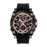 Bulova® Precisionist Mens Black Silicone Strap Chronograph Watch 98B181