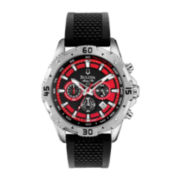 Bulova® Marine Star Mens Black Silicone Strap Chronograph Watch 96B186