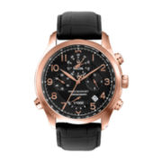 Bulova® Precisionist Mens Rose-Tone Strap Chronograph Watch 97B122