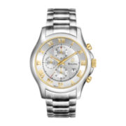 Bulova Mens Silver-Tone Chronograph Watch