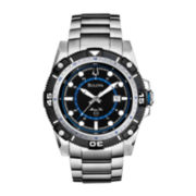 Bulova® Marine Star Mens Silver-Tone Watch