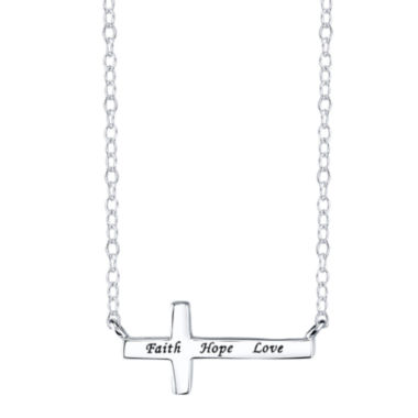 jcpenney.com | Footnotes® Sterling Silver Horizontal Cross Pendant Necklace