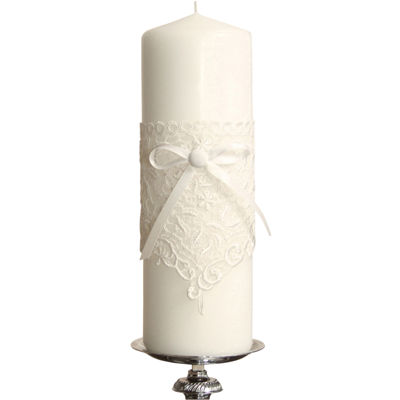 Ivy Lane Design™ Vintage Lace Pillar Candle