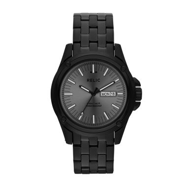 jcpenney.com | Relic® Grant Mens Stainless Steel & Black IP Round Watch ZR12126