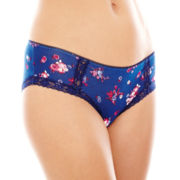 Ambrielle® Natural Comfort Lace-Trim Hipster Panties