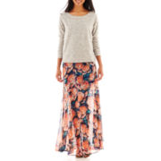 Decree® Embellished Sweatshirt or Print Maxi Skirt