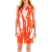 Studio 1® Sleeveless Necklace Sheath Dress - Petite