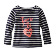OshKosh B'gosh® Striped Long-Sleeve Top – Girls 2t-4t