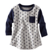 OshKosh B'gosh® Long-Sleeve Ribbed Polka Dot Top – Girls 4-6x