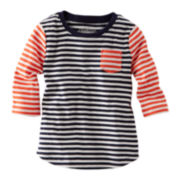 OshKosh B'gosh® Long-Sleeve Ribbed Striped Top – Girls 4-6x
