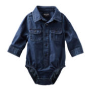 OshKosh B'gosh® Long-Sleeve Denim Bodysuit – Boys 3m-24m
