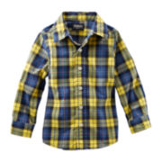 OshKosh B'gosh® Button-Front Plaid Woven Shirt – Boys 2t-4t