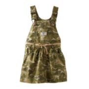 OshKosh B'gosh® Camo Twill Jumper – Girls 2t-4t