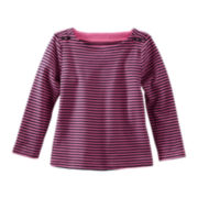 OshKosh B'gosh® Long-Sleeve Ribbed Knit Tee - Girls 2t-4t