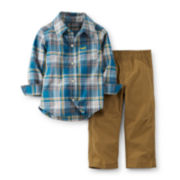 Carter's® Chambray Shirt and Pants Set – Boys newborn-24m