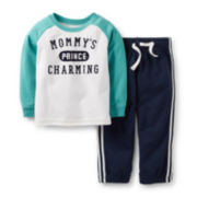 Carter's® Long-Sleeve Mommy's Prince Charming Playwear Set – Boys newborn-24m