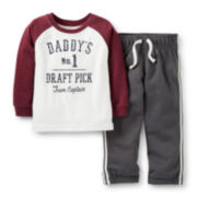 Carter's® Long-Sleeve Daddy's No. 1 Draft Pick Playwear Set – Boys newborn-24m