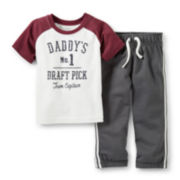 Carter's® Short-Sleeve Daddy's No. 1 Draft Pick Playwear Set – Boys newborn-24m