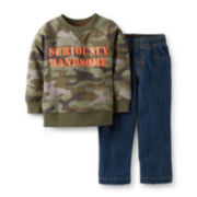 Carter's® Long-Sleeve Camo Shirt and Jeans Set – Boys newborn-24m