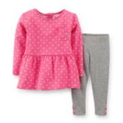 Carter's® Long-Sleeve Peplum Top and Leggings Set – Girls newborn-24m