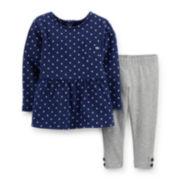 Carter's® Long-Sleeve Peplum Top and Leggings Set – Girls newborn-24m