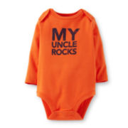 Carter's® Long-Sleeve My Uncle Rocks Bodysuit – Boys newborn-24m