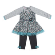Little Lass 2-pc. Top and Leggings Set - Girls 2t-6