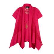 by&by Girl Short-Sleeve Crochet-Trim Top - Girls 7-16