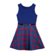 by&by Girl Sleeveless Skater Dress - Girls 7-16 and Plus
