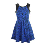 Sugar California Textured Knit Dress - Girls 6-16