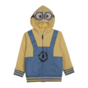 Despicable Me Minion Zip-Front Fleece Hoodie – Boys 2t-5t