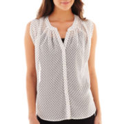 Olsenboye® Sleeveless Polka Dot Top