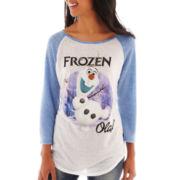 Disney 3/4-Sleeve Frozen Graphic Raglan Tee