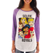 Disney 3/4-Sleeve Princess Selfie Graphic Raglan Tee