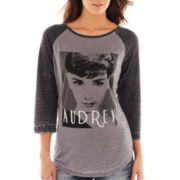 Freeze 3/4-Sleeve Audrey Graphic Raglan Tee