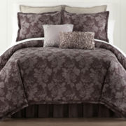 Liz Claiborne Rose Jacquard 4-pc. Comforter Set & Accessories