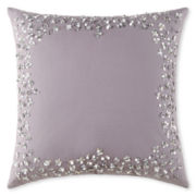 Liz Claiborne® Rose Jacquard Square Decorative Pillow