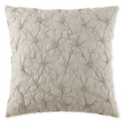 Liz Claiborne Bianca Border Floral Square Decorative Pillow